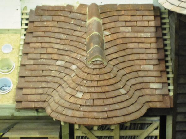 Clay Plain Tile Swept Valley And Curved Roof South Coast