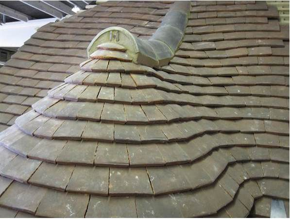 Clay Plain Tile Curved Roof And Swept Valley South Coast